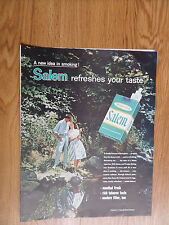 1959 Salem Cigarette Ad  Couple on a Walk A Shaded Stream in Springtime