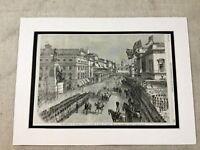 Antique Print Princess Alexandra Royal Procession Waterloo Place London 1863