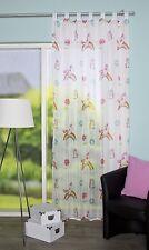 Kinder Gardine Einhorn Kinderzimmer Vorhang Schlaufenschal Voile Store 140/245