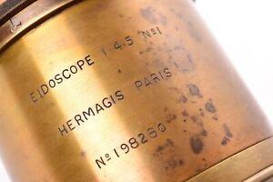 Vintage Lens Hermagis IN Brass Eidoscope 1:4,5 N° 1