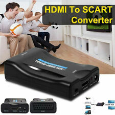 HDMI to SCART Adapter 1080P Video Audio Converter USB Cable TV DVD SkyBox New