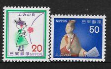 JAPAN 1979 LETTER WRITING WEEK 2v MNH