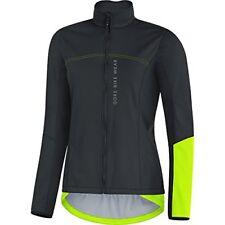 Veste Gore Bike Wear Power Windstopper Noir-jaune Neon Femme M