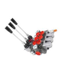 3 Spool Monoblock Hydraulic Directional Control Valve, 11 Gpm, Sae Ports