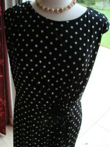 robe habillée noir à pois sans mancheConnected APPAREL T42/44 achat USA