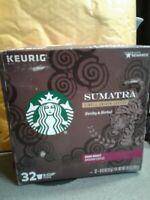 Starbucks Sumatra Dark Roast Single Cup Coffee for Keurig Brewers, 32 Count