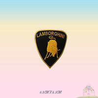 Lamborghini Car Brand Motor Sport Racing Embroidered Iron On Patch Sew On Badge