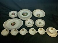 32 Pieces Vintage Nasco SOUTHERN BELLE China With 22K Gold Accents Service for 6
