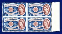 1960 SG622 1s6d Europa W15 Block(4) Variety Brown Shift Left (Portrait) MNH akbv