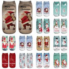 Unisex Adults Socks Facial Socks Christmas Printed Cute Low Cut Ankle  Soft Sock