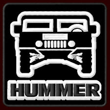 """HUMMER H1 EMBROIDERED PATCH ~3-1/2"""" x 3-1/2"""" ALPHA MILITARY JEEP HUMVEE SUV V8"""