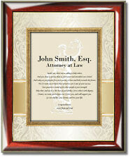 Law Graduation Gift Poetry Picture Frame New Lawyer Attorney Law School Present