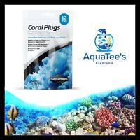Seachem CORAL Frag PLUGS Pack of 12 Aquarium Fish Tank Marine Reef Coral Stones