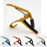 New Aluminum Quick Change Clamp Key Capo For Acoustic Electric Classic Guitar