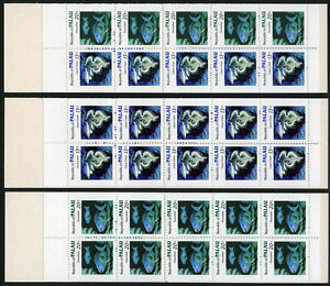 Palau 13a,13b,14b, Booklets, MNH. Marine life: Giant Clam, Parrotfish, 1983