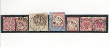 Preußen / RAHDEN 7 feinst-Pracht-Stücke, dabei K2 auf NDP 4, 16, Briefstück NDP
