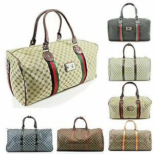 Women Ladies Travel Patterned Duffle Mens Gym Overnight Weekend Travel Bag New