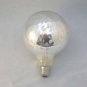 G125 LED Bulb Filament 2700k Warm White E27 Edison Silver Sprayed Decorative