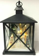 Holiday LED Lantern Church Village Christmas Trees Centerpiece