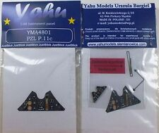 Yahu Models YMA4801 1/48 PE PZL P.11C instrument panel Mirage
