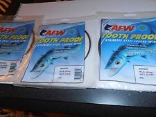 Afw-3 Packages-Tooth Proof-#06-58#-Stainless S-Leader-30 '-Brown Color
