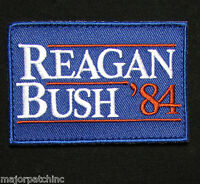 REAGAN BUSH 84 VOTE USA REPUBLICAN TACTICAL MORALE ARMY BADGE COLOR HOOK PATCH