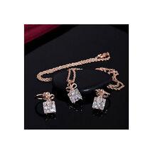 Design Set Halskette mit Ohrringe Strass Anhänger Modeschmuck Schmuck Konvolut