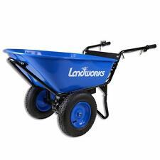 Landworks Super Duty Electric Powered Wheelbarrow Utility Cart 24V Dc 180W Agm B