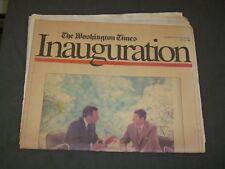 1989 JANUARY 19 NEWSPAPER - GEORGE BUSH INAUGURATION - NP 3270