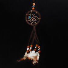 Brown Mini Dream Catcher Hanging Ornament Handmade Decoration for Wall Car Home
