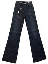 """LEE """"High Flare"""" blue-grey denim hi-waist stretch jeans 7x34 NWT $159.95!"""