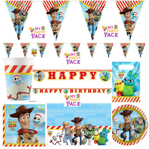 Disney Toy Story 4 Party! Plates,Cups,Napkins,Banners! Birthday Party!