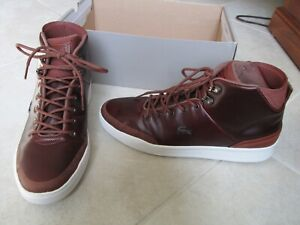 NEW Lacoste EXPLORATEUR CLASSIC 318 Lace-Up Boots Mens 10.5 Brown
