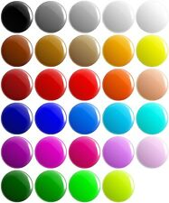 More details for plain solid colour button pin badges 25mm 1 inch school game merit team blank