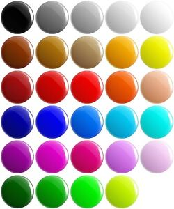 Plain Solid Colour BUTTON PIN BADGES 25mm 1 INCH School Game Merit Team Blank