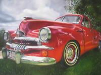 A1 PRINT  VINTAGE red holden FJ  australia ART poster car old painting