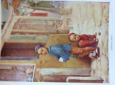 m17a1 ephemera 1920s book plate chinese boys
