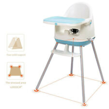 Blue Baby High Chair BABYYUGA Highchair 3-in-1 Booster Seats Child Chair