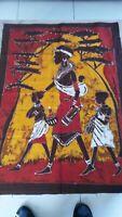 Bello Batik Tessuto Etnico Africa Di WEST Costa Avorio Donna E Bambini