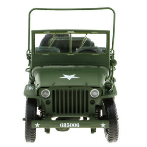 Lovoski 1:18 Car Model Diecast   Tactical Willys Jeep Classic Cars