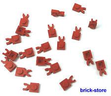 LEGO / 1x1 plaques avec Clip / rouge/horizontal vertical/20 pièces
