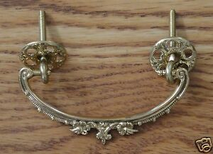 Victorian Style Ornate Bail Drawer Pull Brass