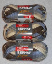 Bernat Softee Chunky Yarn Lot Of 3 Skeins (Nature's Way #29012)