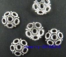 100pcs Tibetan Silver Nice Flower Bead Caps 8x2mm 9832