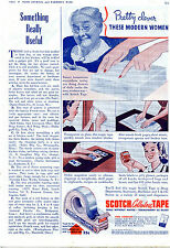 1941 Print Ad of Scotch Cellulose Tape Minnesota Mining & Mfg Co Modern Women