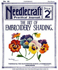 Needlecraft Practical Journal #55 c.1906 Instruction on Color Embroidery Shading