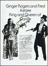 Fred ASTAIRE & Ginger ROGERS (Dance): Signed Photo!