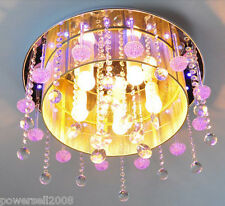 #19 New Fashion Purple Crystal Diameter 45cm 5 Bulbs Decorative Ceiling Light