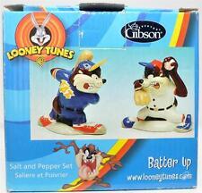 Gibson Looney Tunes Batter Up Salt And Pepper Shaker Set NIB