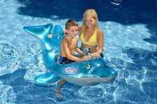 DOLPHIN SQUIRTER Squirt Gun FLOAT Swimming POOL Beach Inflatable Kids Toy 90301